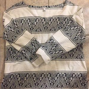 J Crew tribal print sweatshirt L